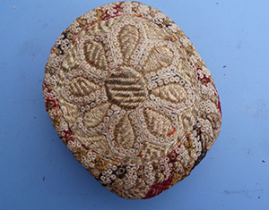 Image for Middle Eastern Kufi Cap, Profusely Embroidered, Vintage.