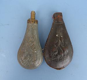 Image for Pair of 19th Century Gunpowder Flasks.