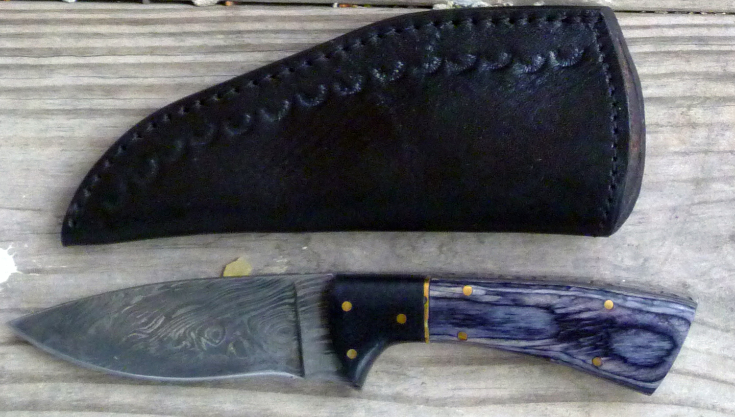 Image for Black & Gray Damascus Hunter.