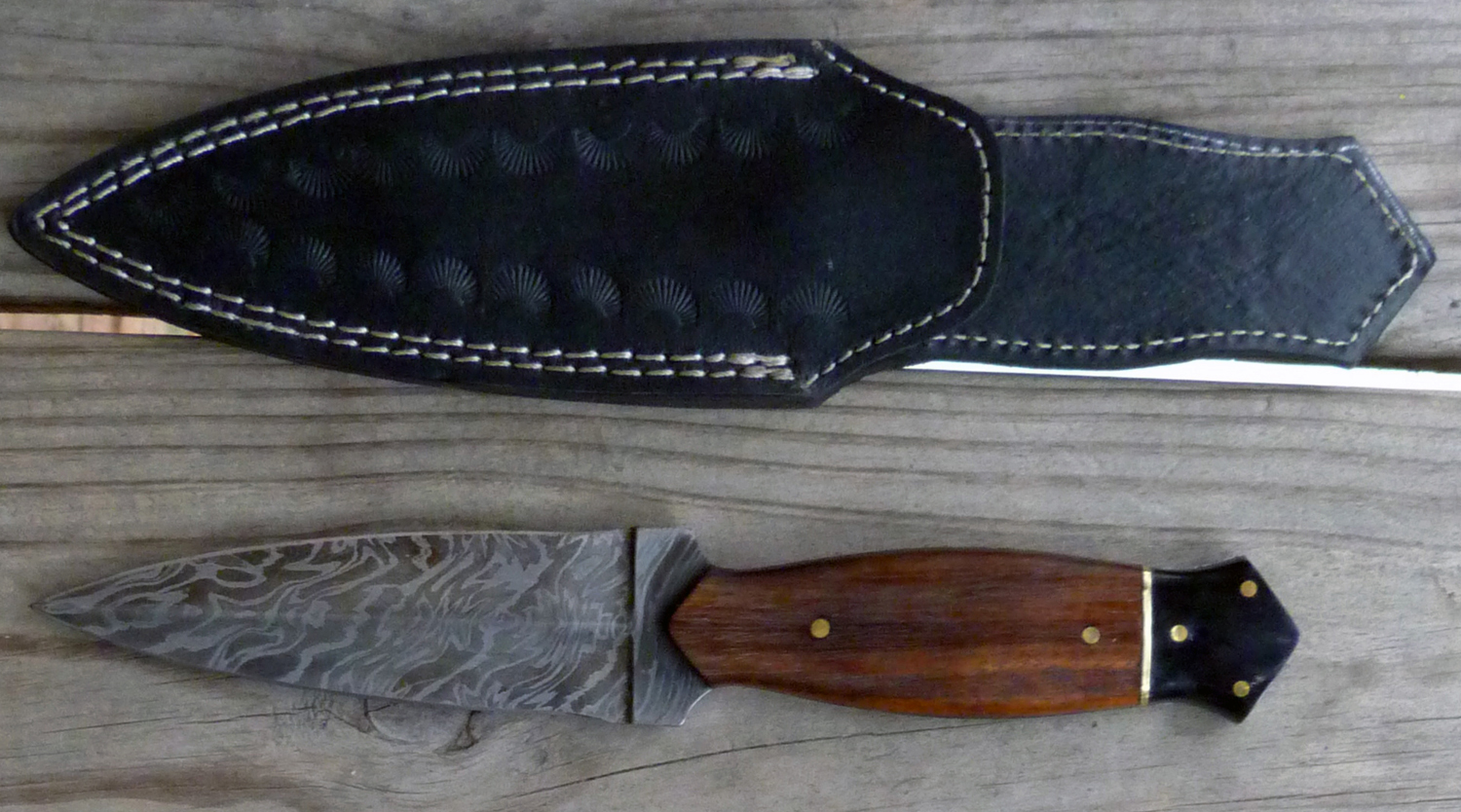 Image for Brown Damascus Dagger.
