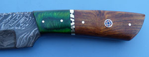 Image for Green & Rosewood Damascus Hunter.