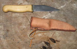 Image for Broken-backed Seax with Holly Hilt.