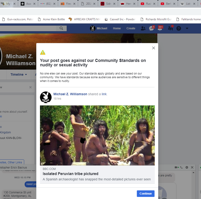 /></p><p>Posting a link to an article about an uncontacted tribe is