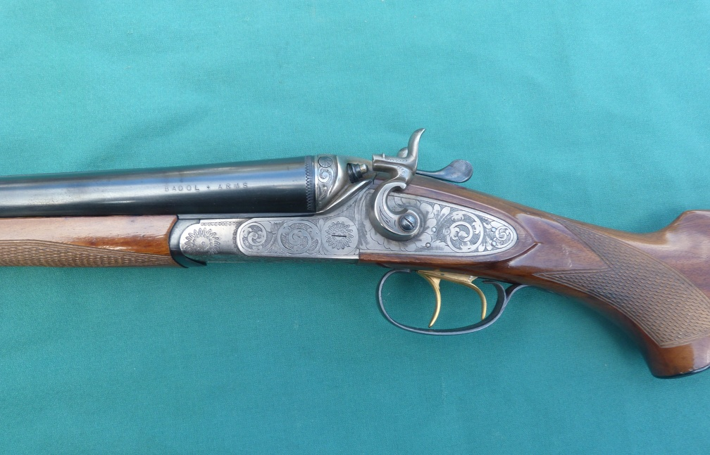 /></p><p>Westley Richards, London:  I am 141 years old, and after being refinished, my double twist Persian damascus bores are right at .027, with one eroded ring at .020.